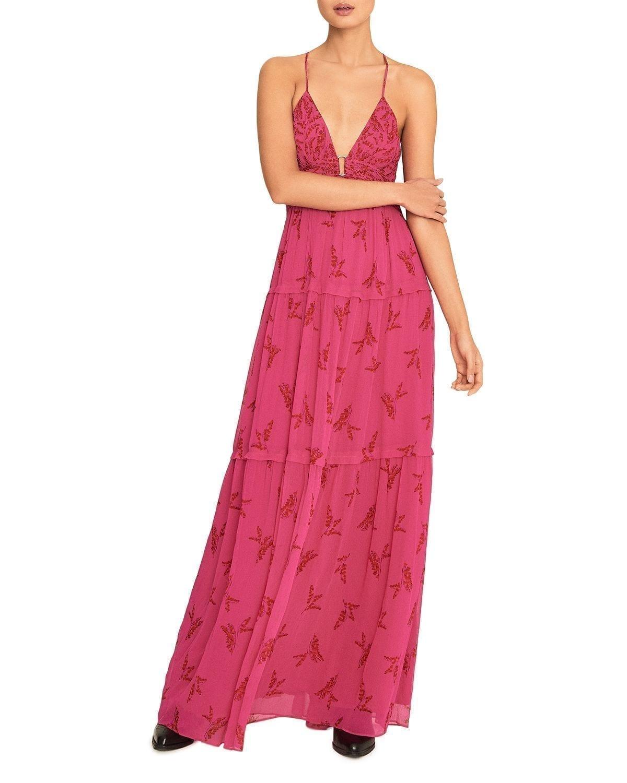 BA&SH Masha Floral-Print Sleeveless Maxi Dress