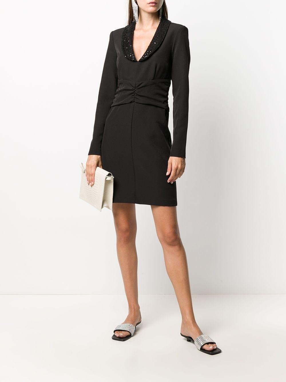 BLUMARINE Embellished Collar Mini Dress