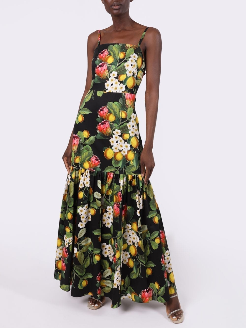 BORGO DE NOR Lemon Blossom Print Summer Dress