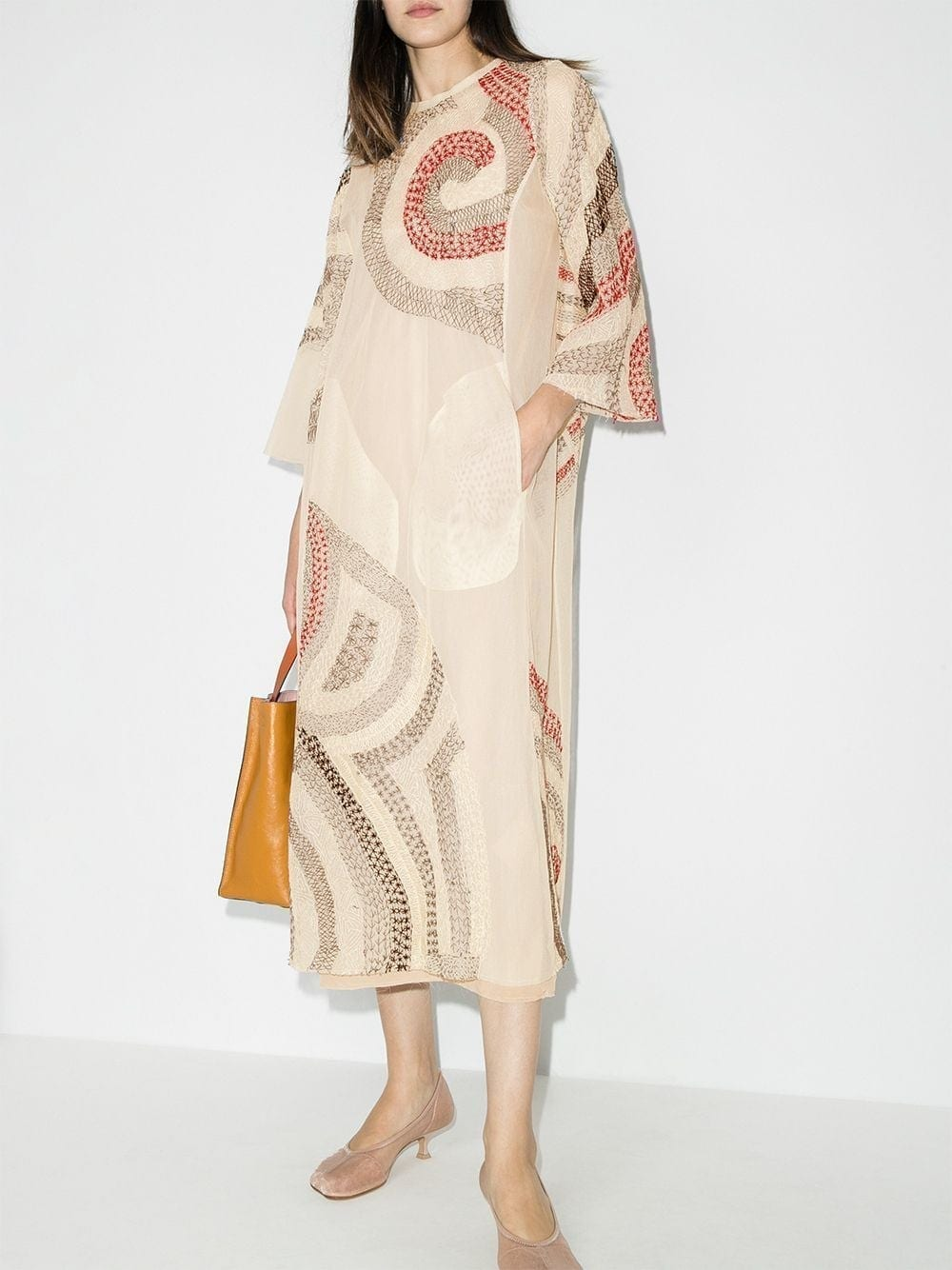 BY WALID Rima Embroidered Dress