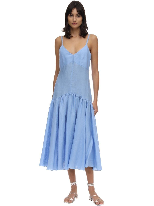 CAFTANII Maya Linen Midi Dress