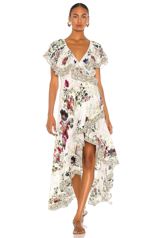 CAMILLA Frill Sleeve Maxi Dress