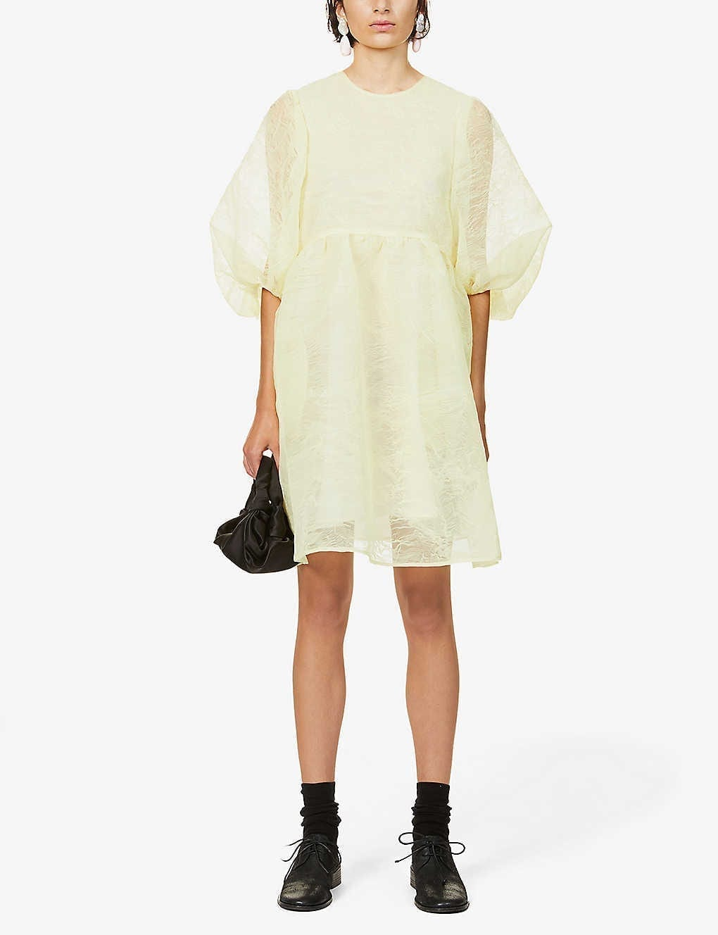 CECILIE BAHNSEN Abstract-patterned Organza Mini Dress