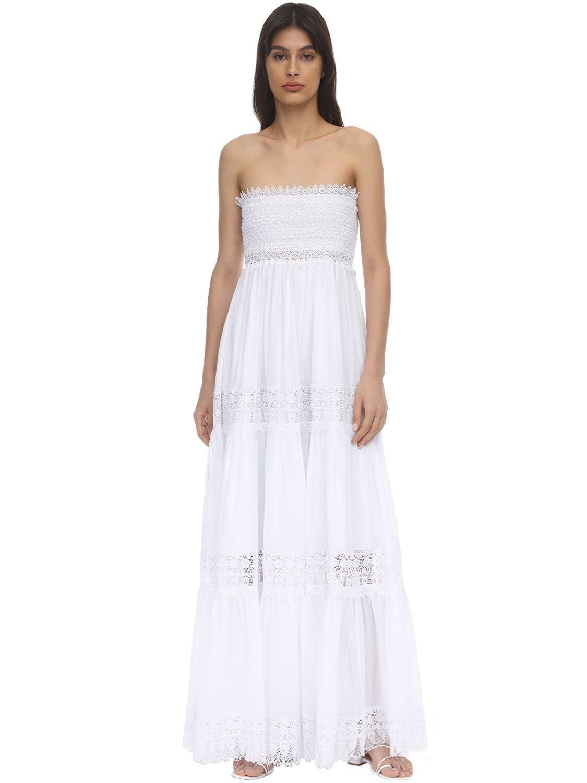 CHARO RUIZ Zoe Lace & Cotton Maxi Dress