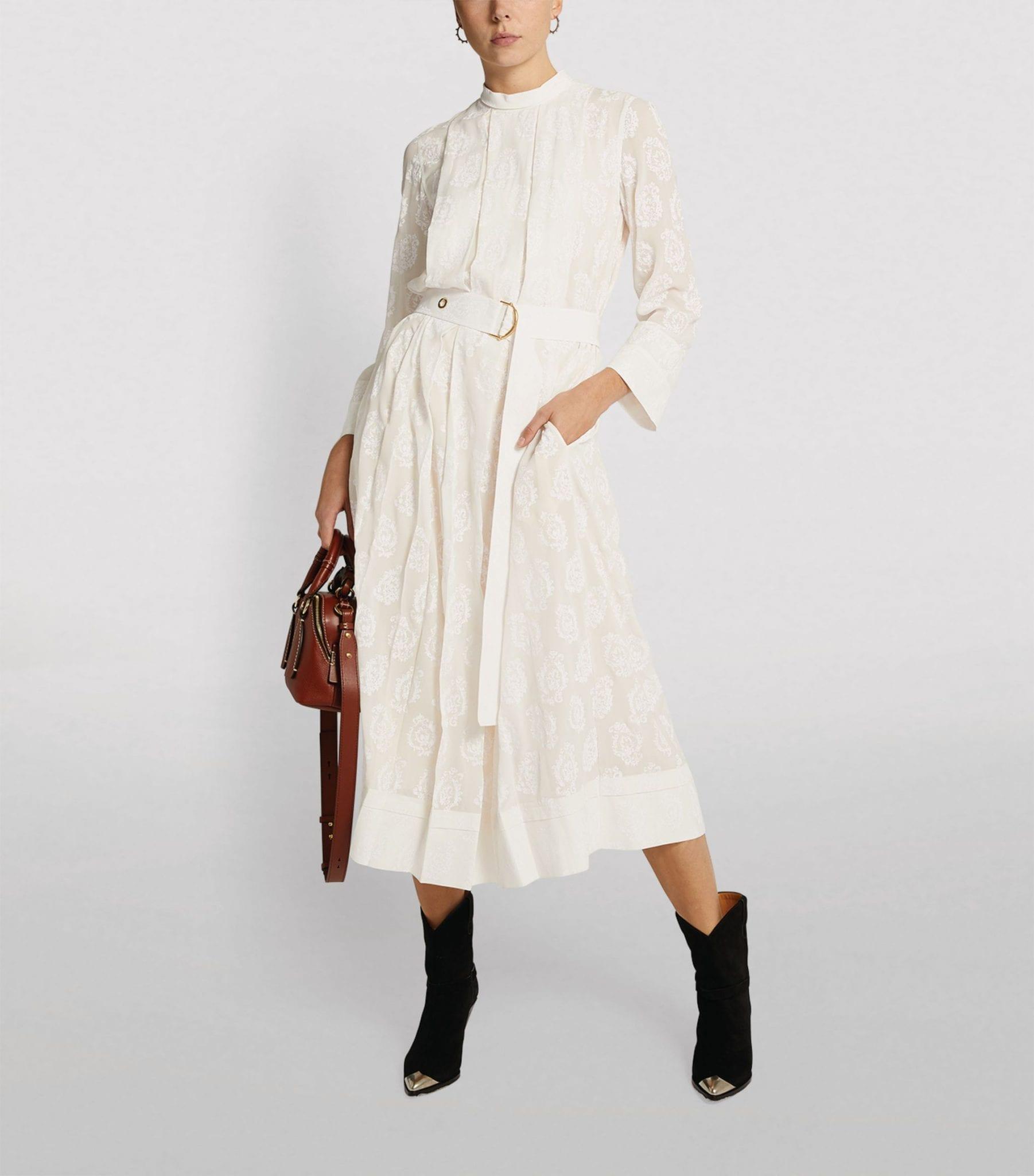 CHLOÉ Silk Embroidered Dress