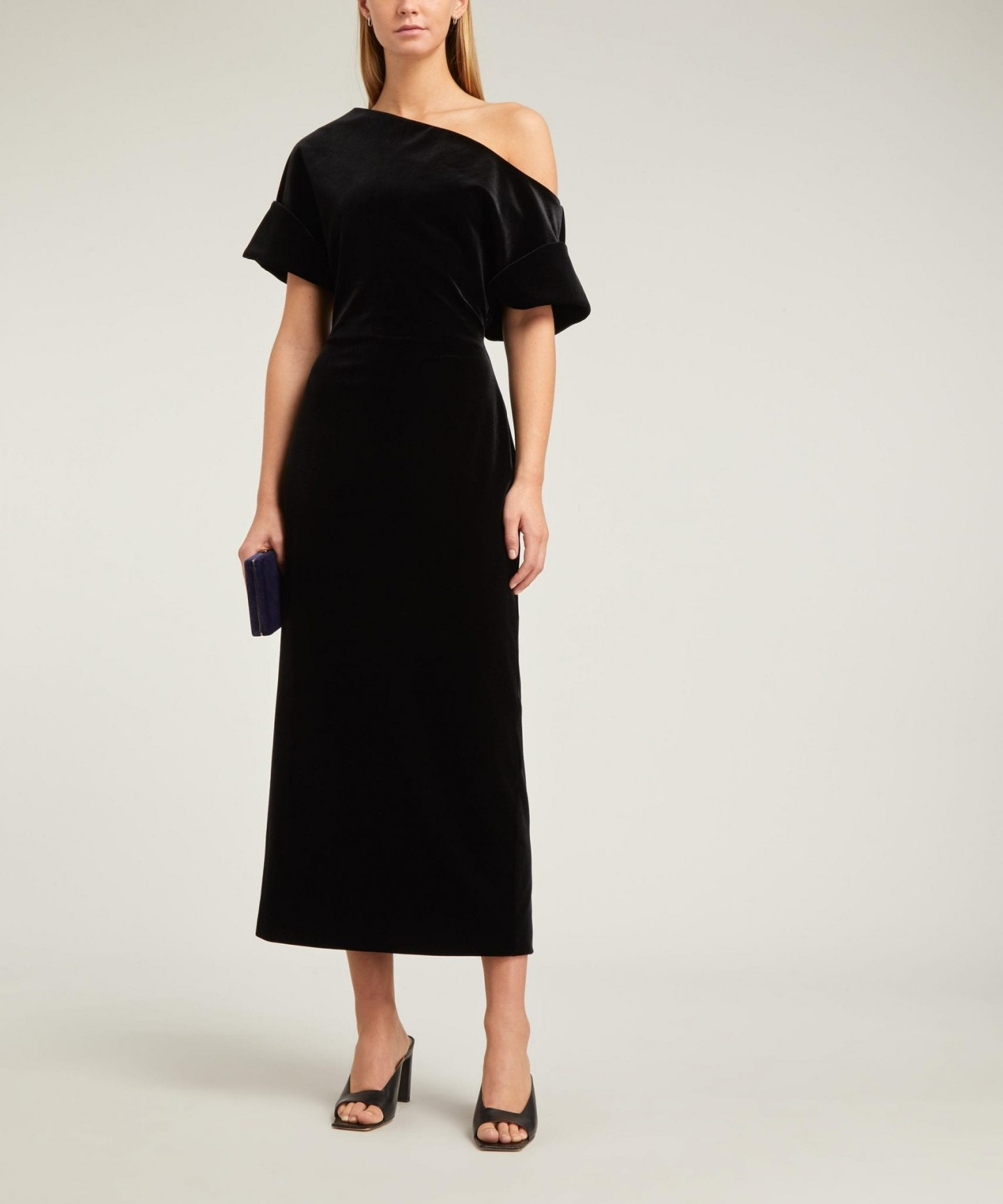 CHRISTOPHER KANE Asymmetric Stretch-Velvet Dress