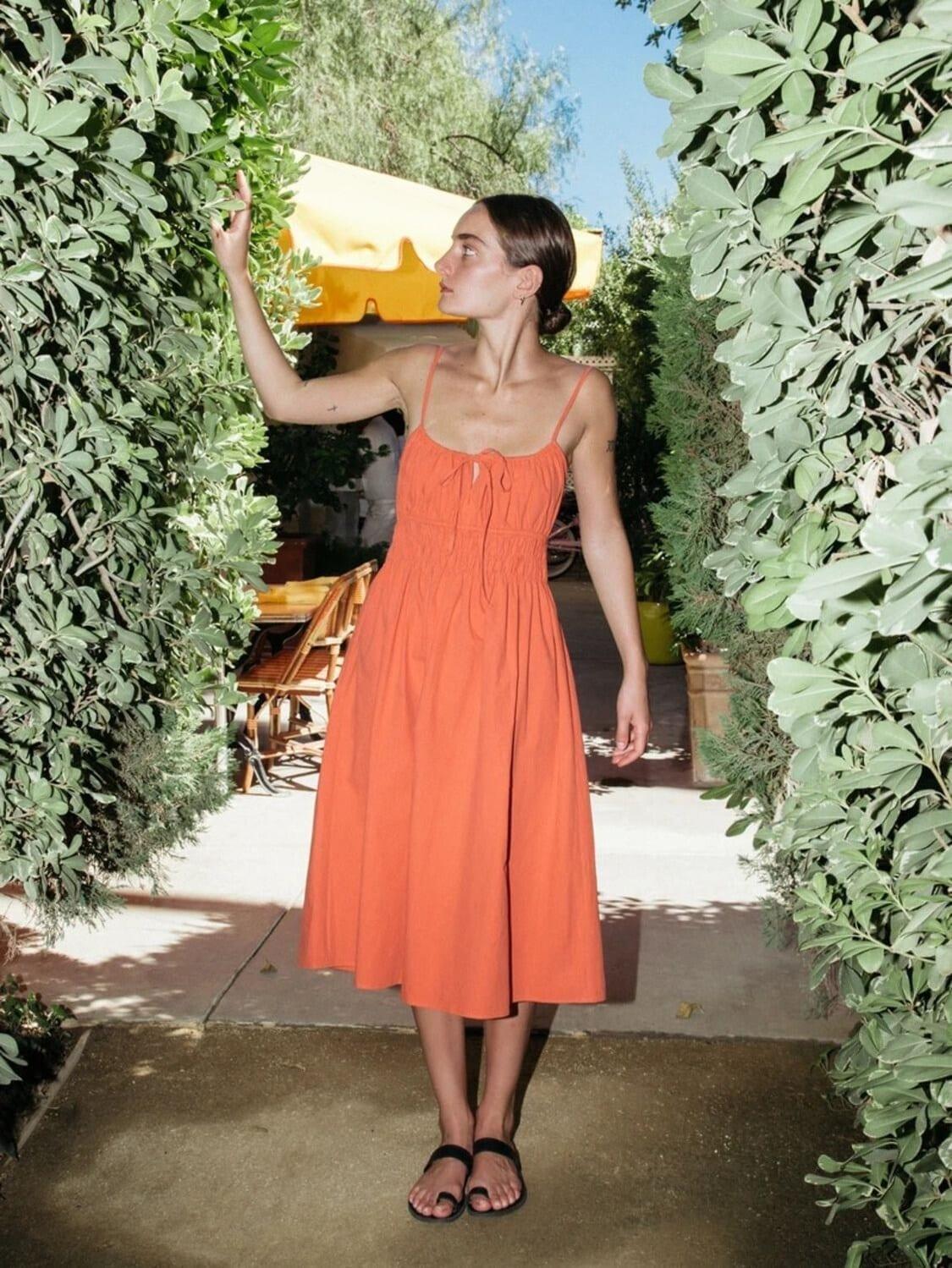 CIAO LUCIA Gabriela Cotton Poplin Midi Dress