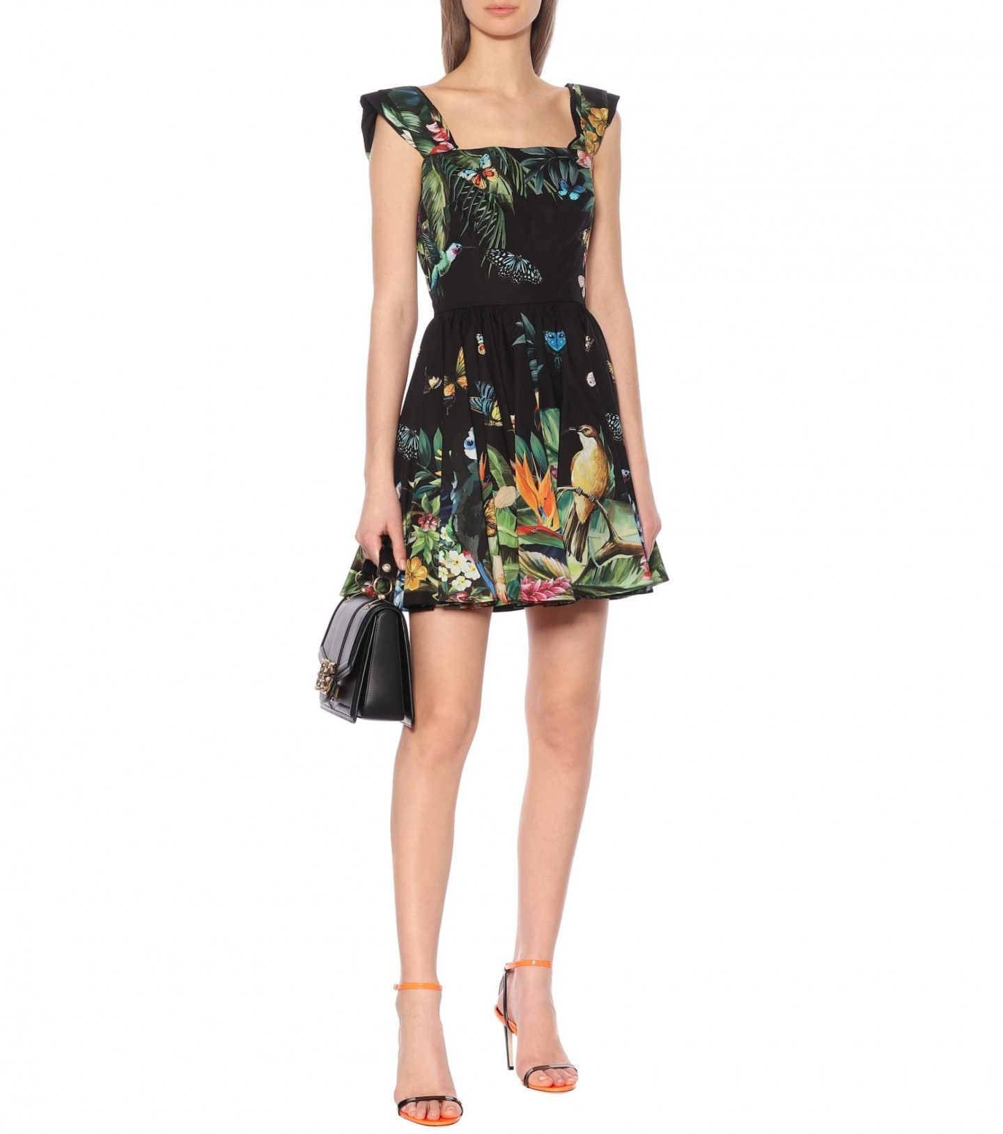 DOLCE & GABBANA Printed Cotton Mini Dress