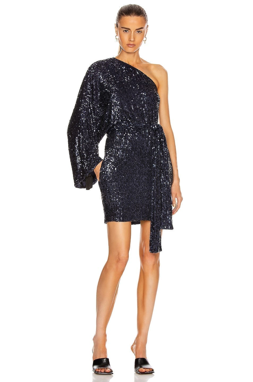 DUNDAS One Shoulder Kaftan Mini Dress