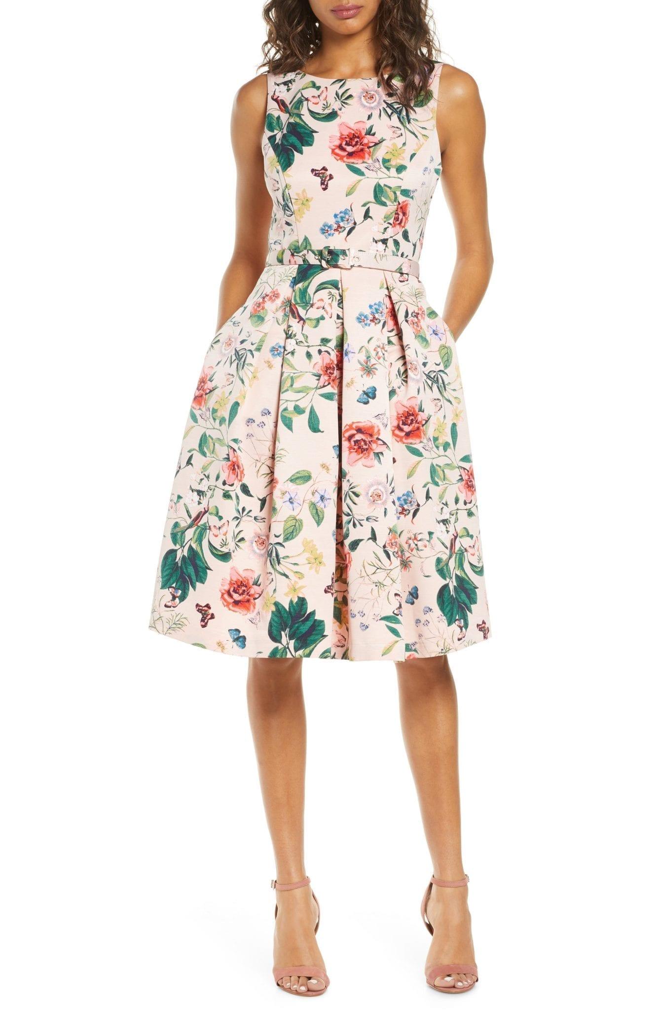 ELIZA J Floral Fit & Flare Dress