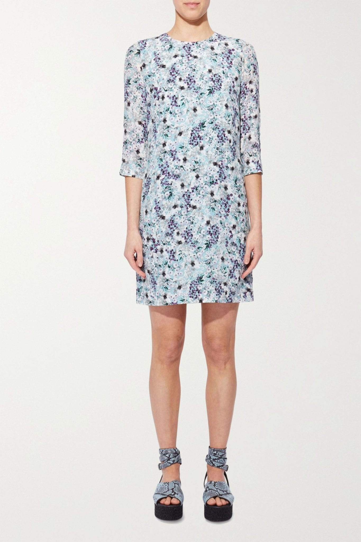 ERDEM Emma Floral-print Silk Crepe De Chine Mini Dress