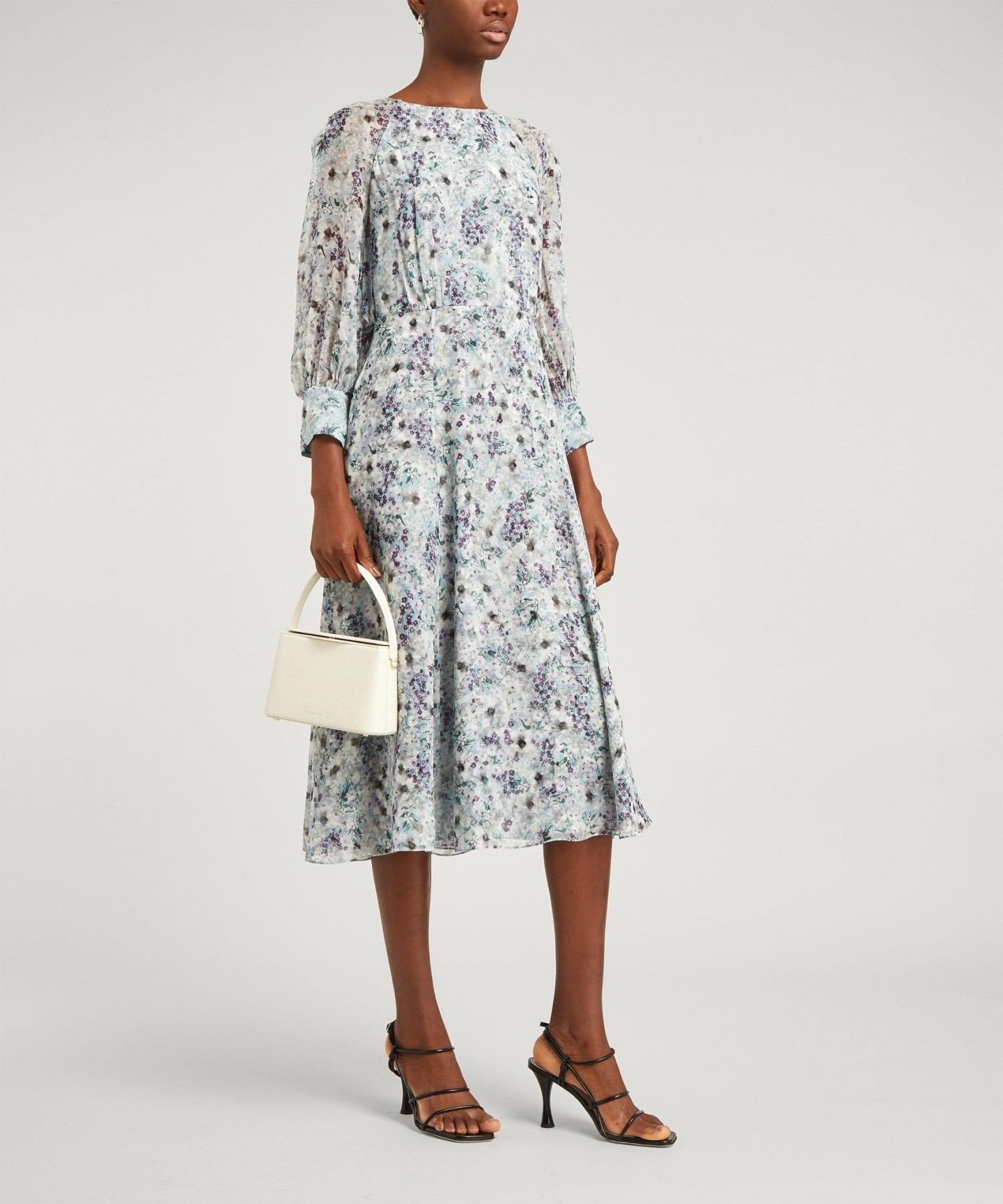 ERDEM Floral Draped Midi-Dress