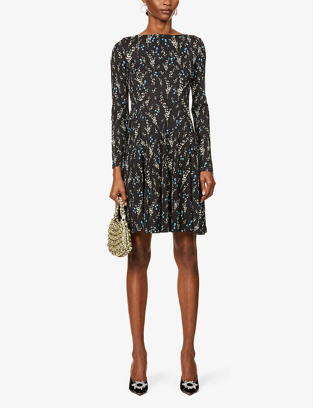 ERDEM Martine Floral-print Woven Mini Dress