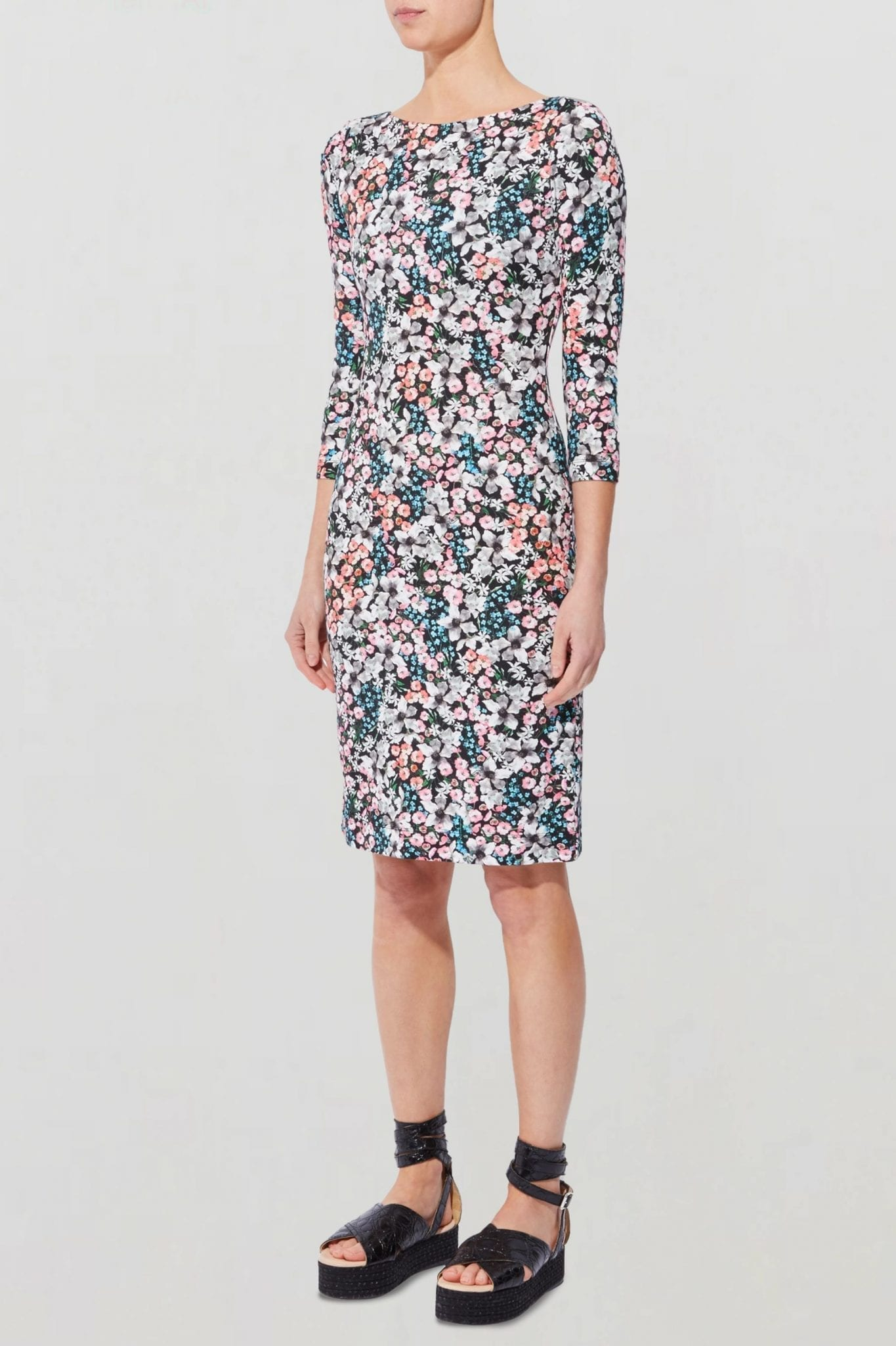 ERDEM Reese Floral-print Stretch-ponte Dress