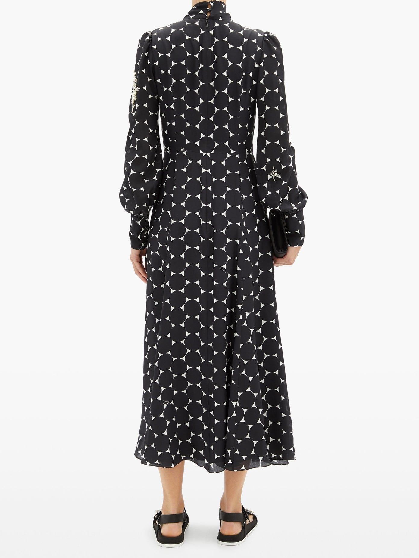 ERDEM Violante Pearl-embellished Silk Dress