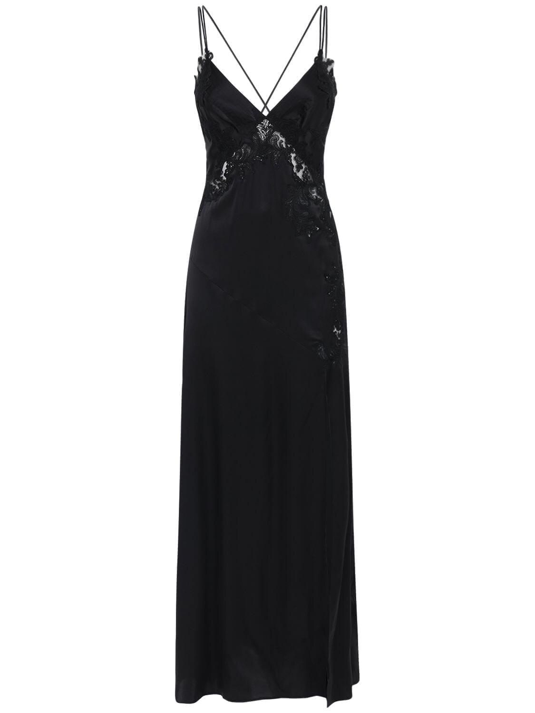 ERMANNO SCERVINO Silk Satin & Lace Dress