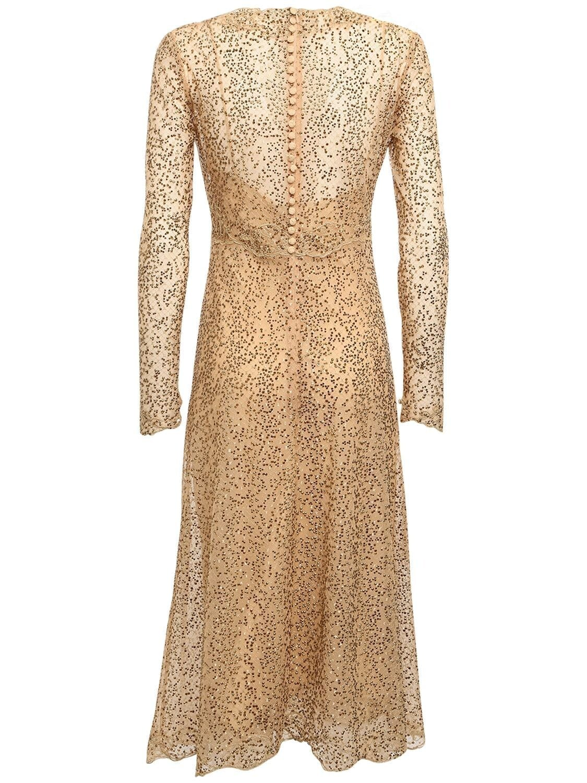 ERMANNO SCERVINO V Neck Lace Midi Dress