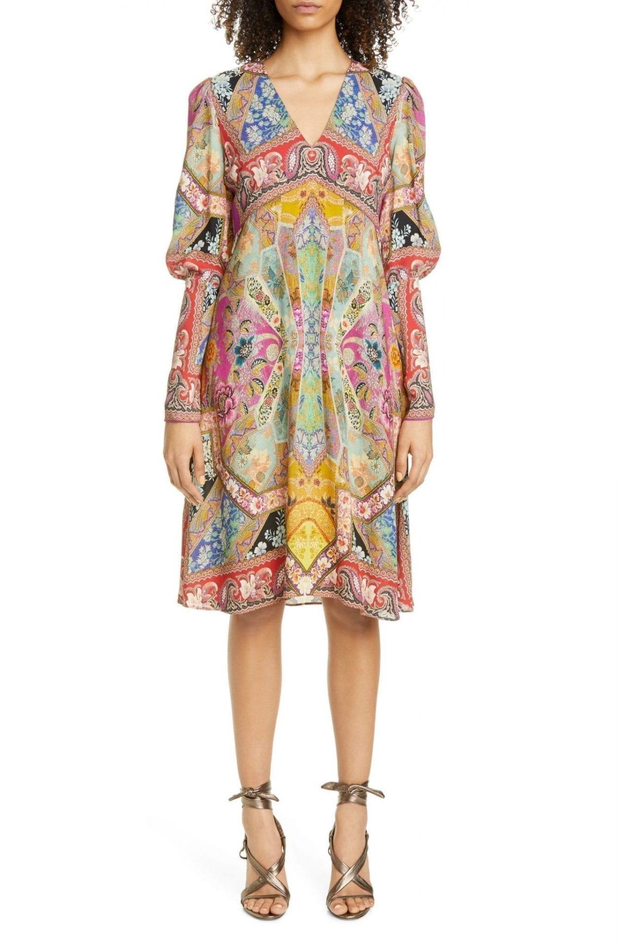 ETRO Floral Print Long Sleeve Dress