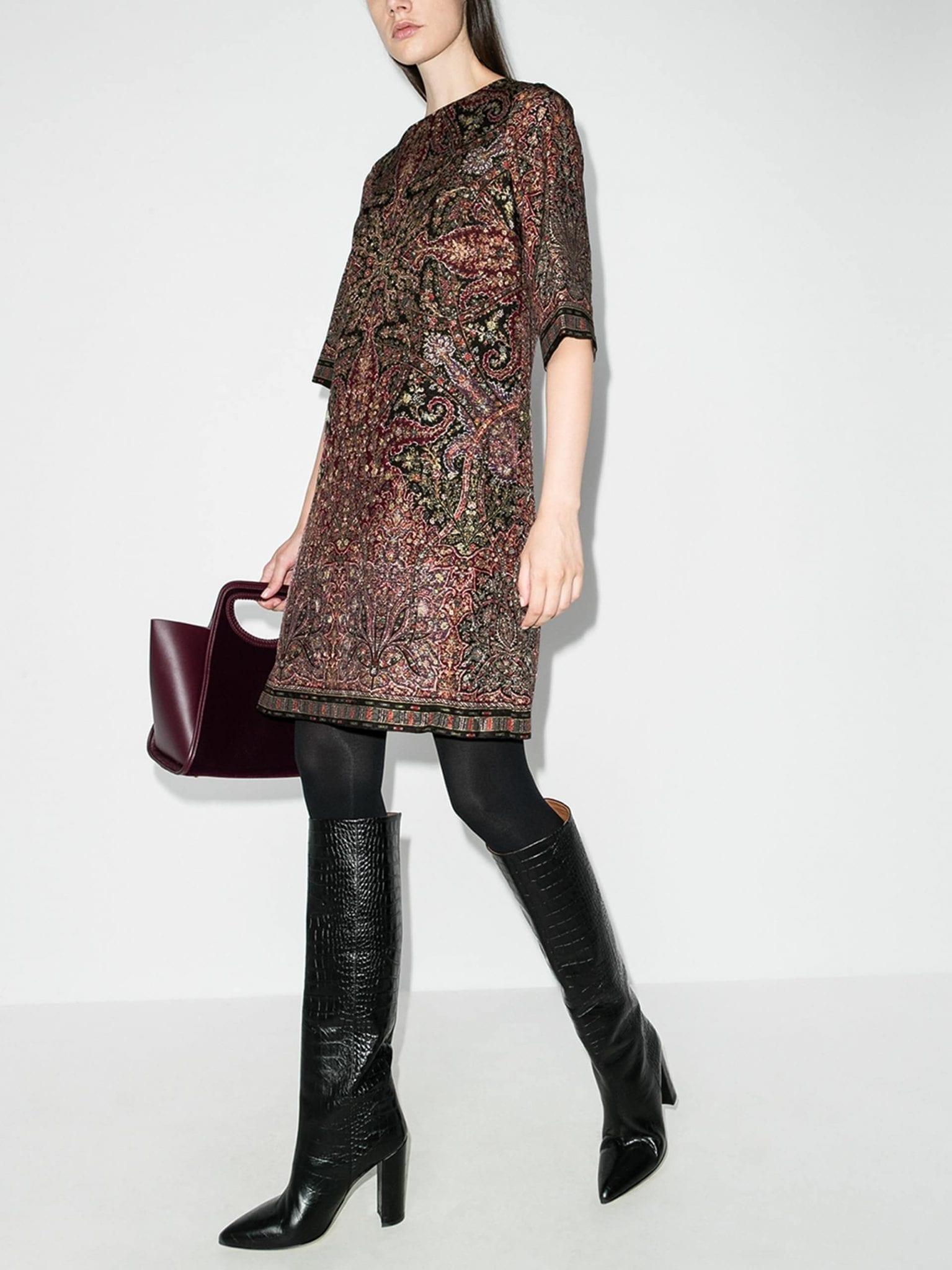 ETRO Textured Shift Midi Dress