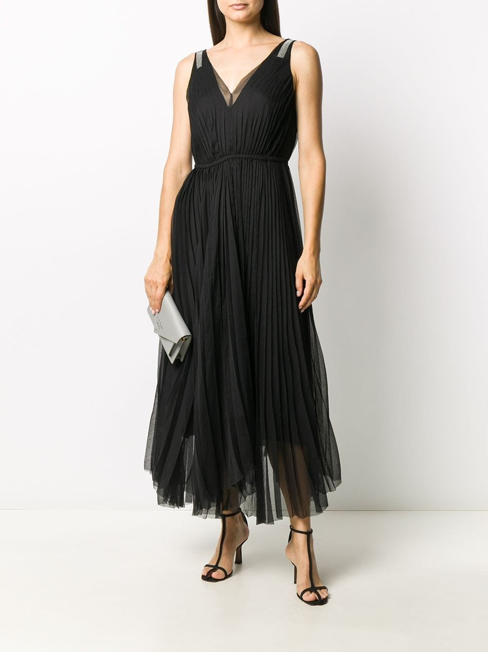 FABIANA FILIPPI Tulle-overlay Embellished Dress