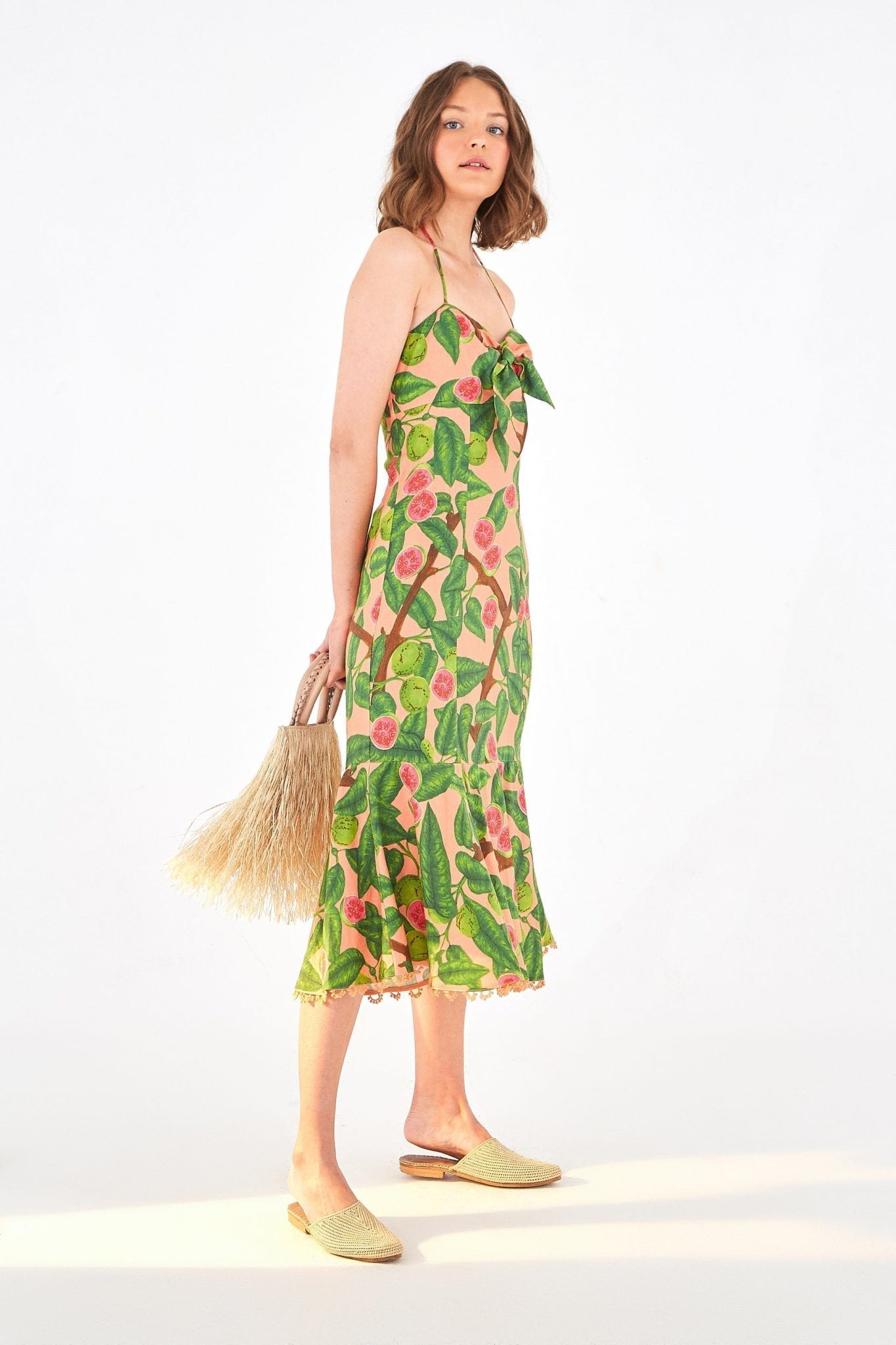 FARMRIO Guava Midi Dress