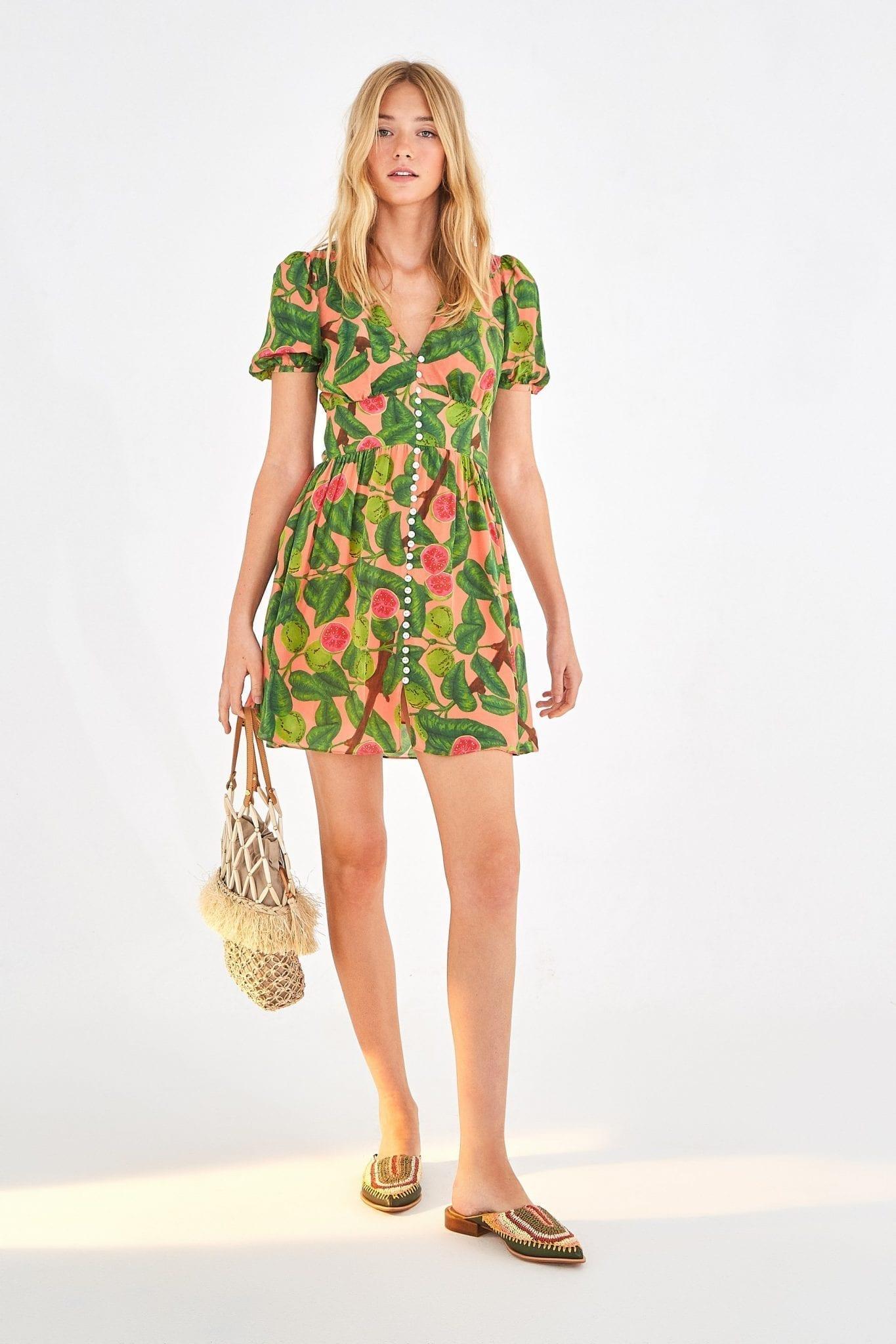 FARMRIO Guava Mini Dress