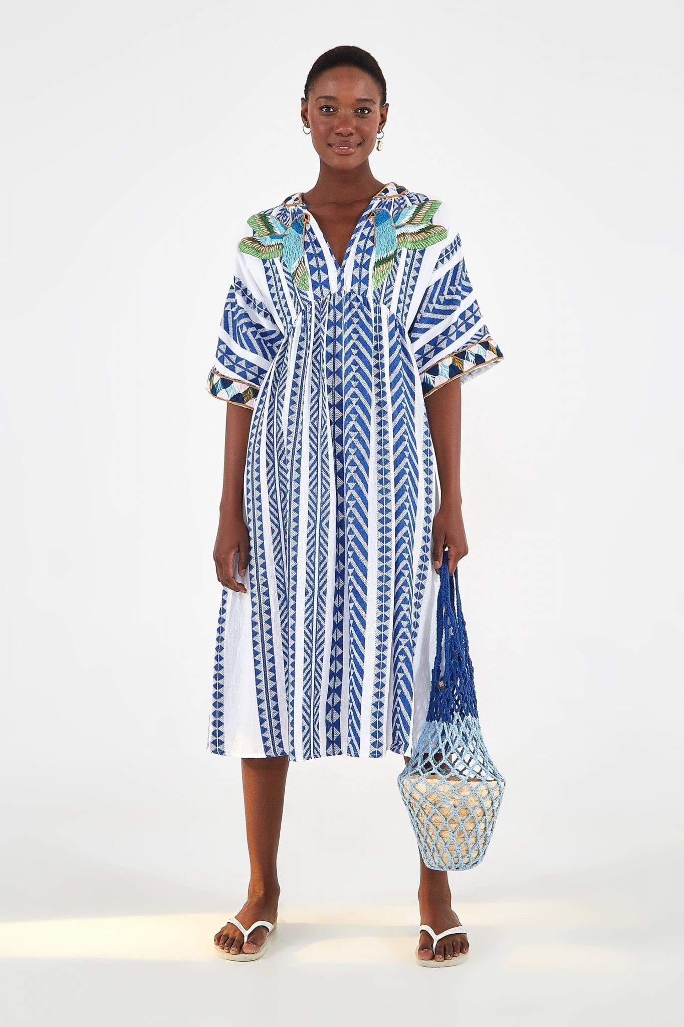 FARMRIO Jacquard Embroidery Dress