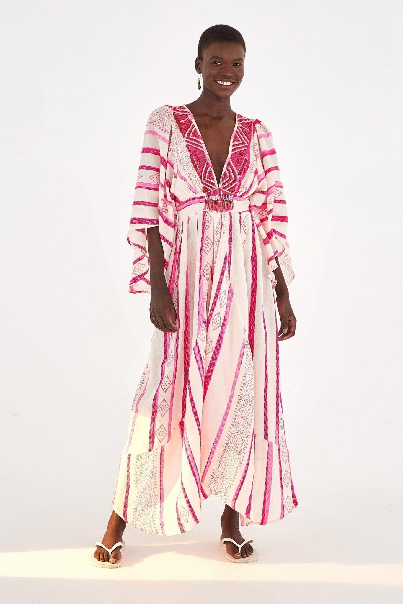 FARMRIO Jaquard Caftan Dress