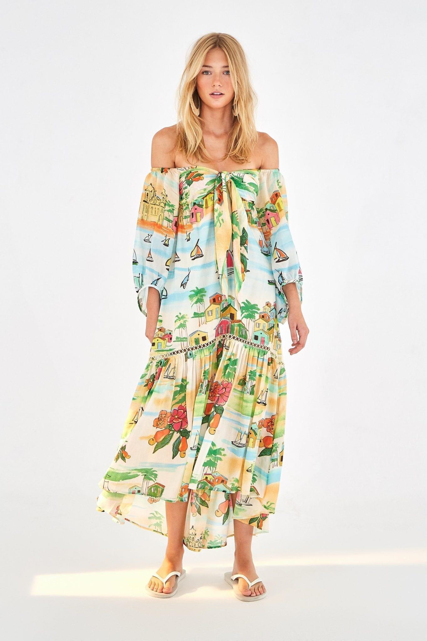 FARMRIO Summer Sail Maxi Dress