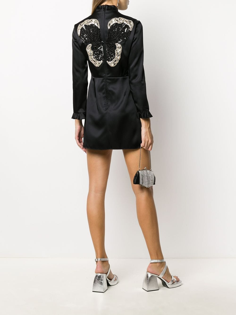 GUCCI Butterfly Sequinned Patch Mini Dress