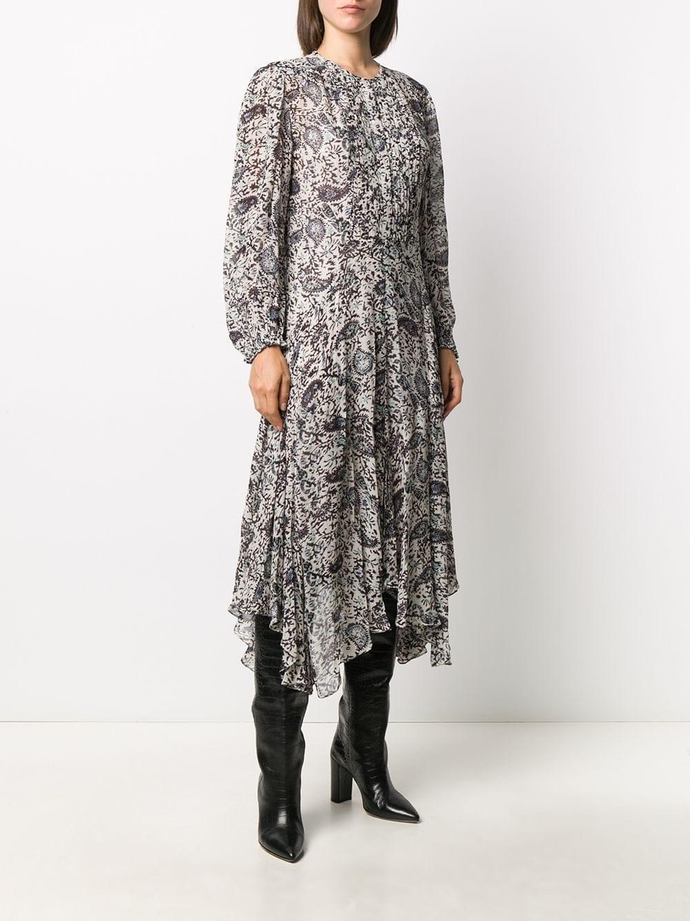 ISABEL MARANT ÉTOILE Handkerchief-hem Paisley Midi Dress