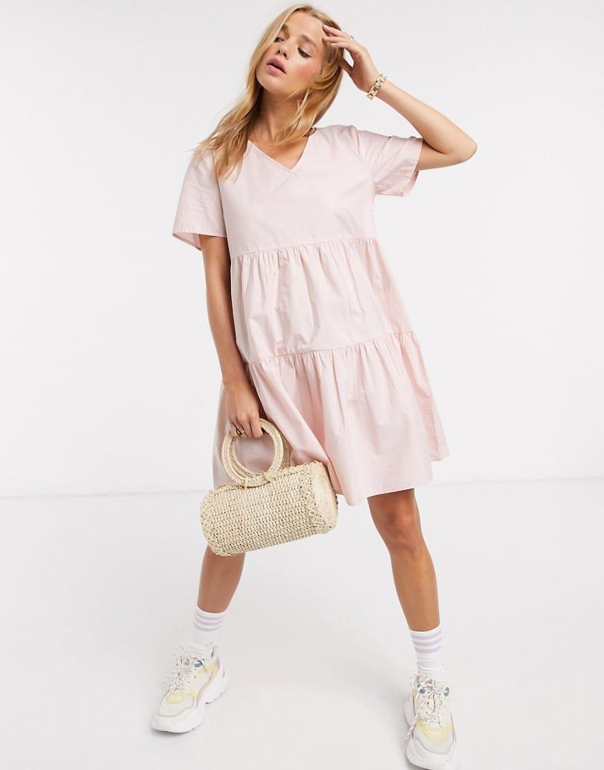 JDY Tiered Skirt Smock Dress