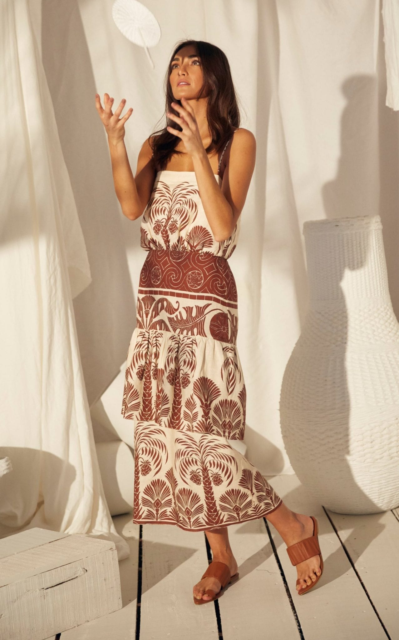 JOHANNA ORTIZ Journey Legacy Sleveless Linen Dress