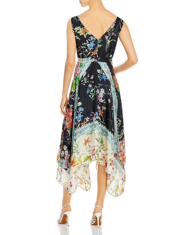 JOHNNY WAS Meru Printed Silk Dress