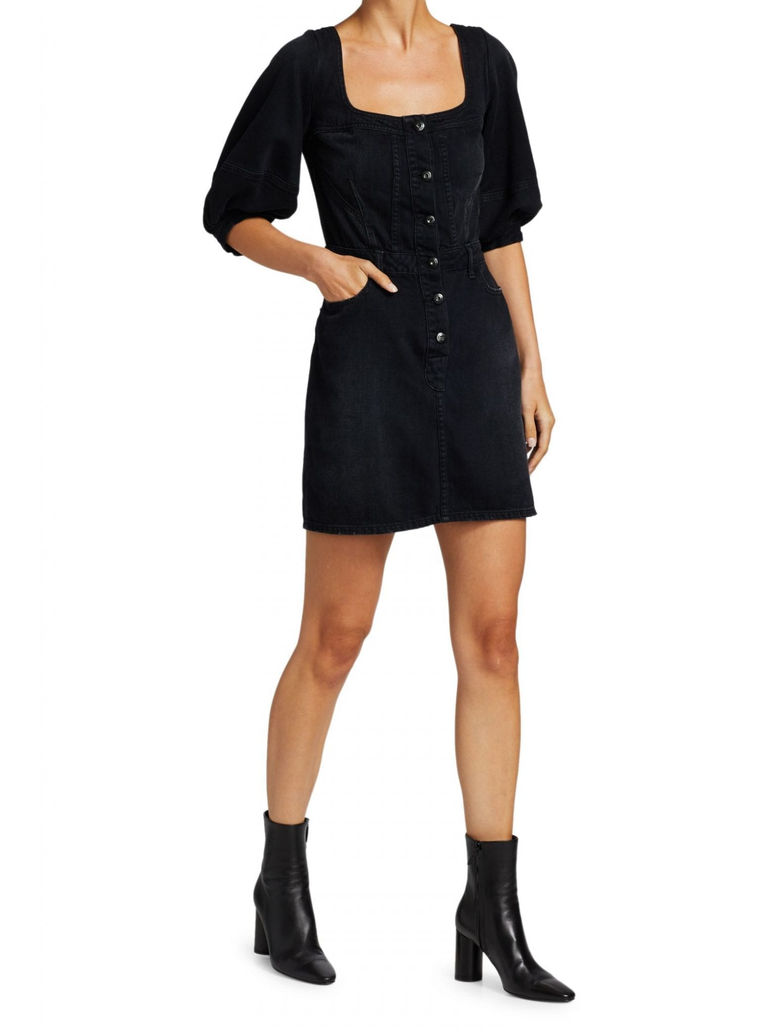 JONATHAN SIMKHAI JONATHAN SIMKHAI STANDARD Poppy Puff-Sleeve Mini Dress
