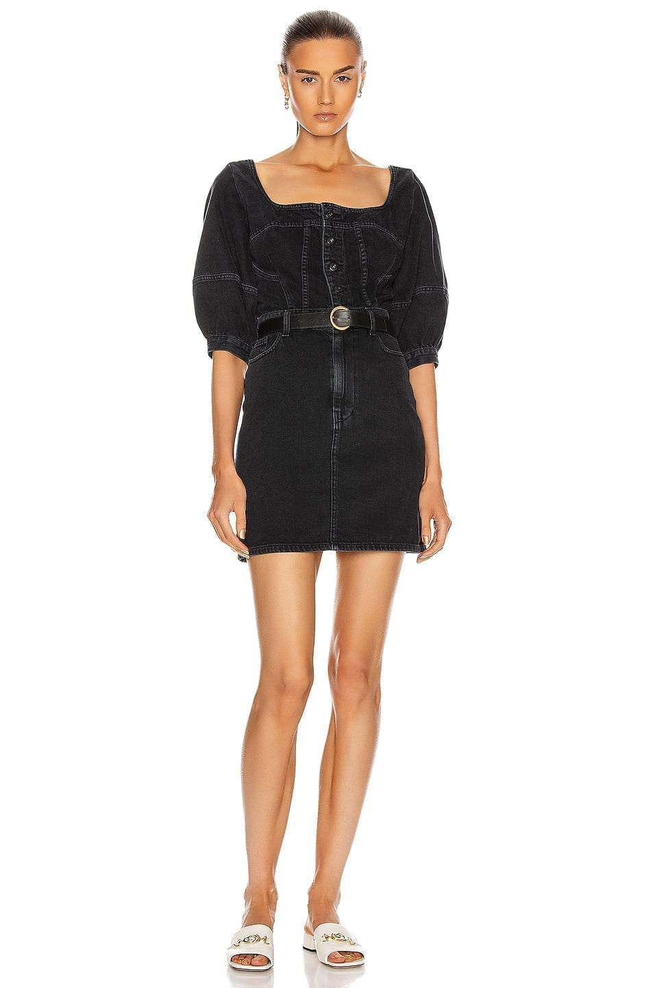 JONATHAN SIMKHAI STANDARD Puff Sleeve Mini Dress