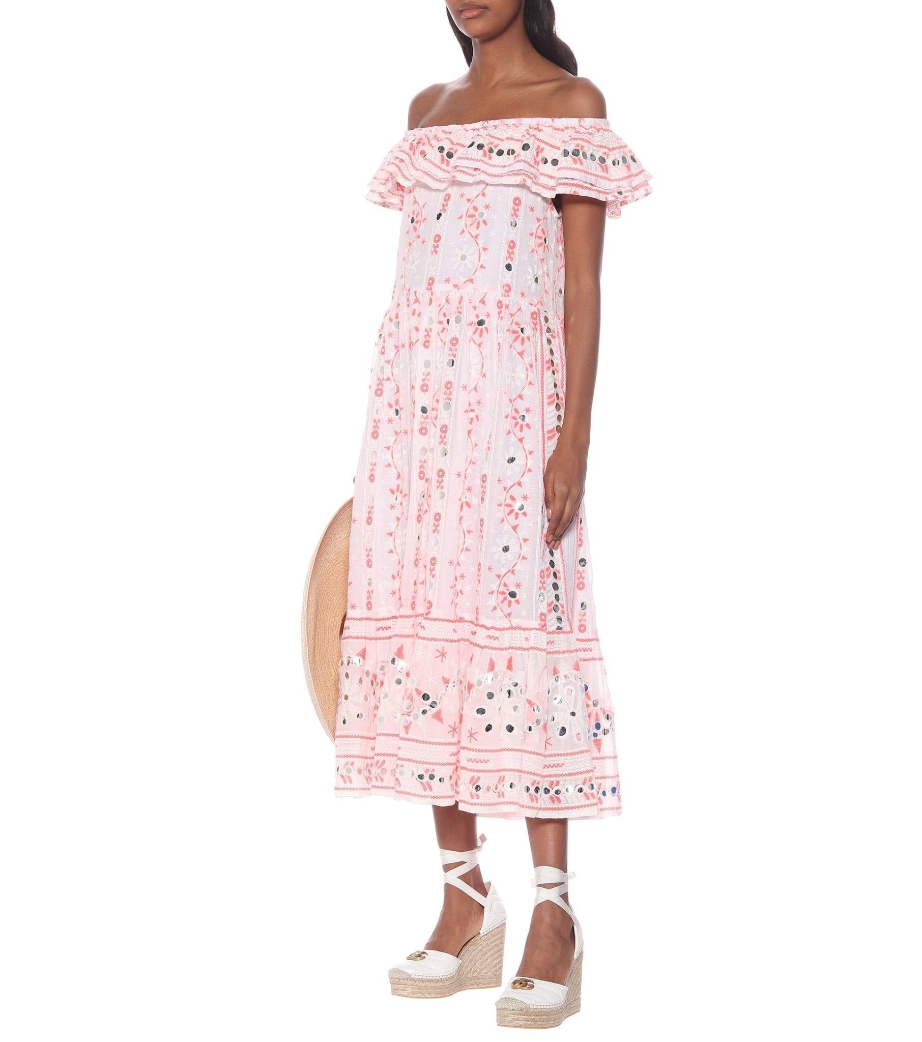 JULIET DUNN Embellished Cotton Maxi Dress