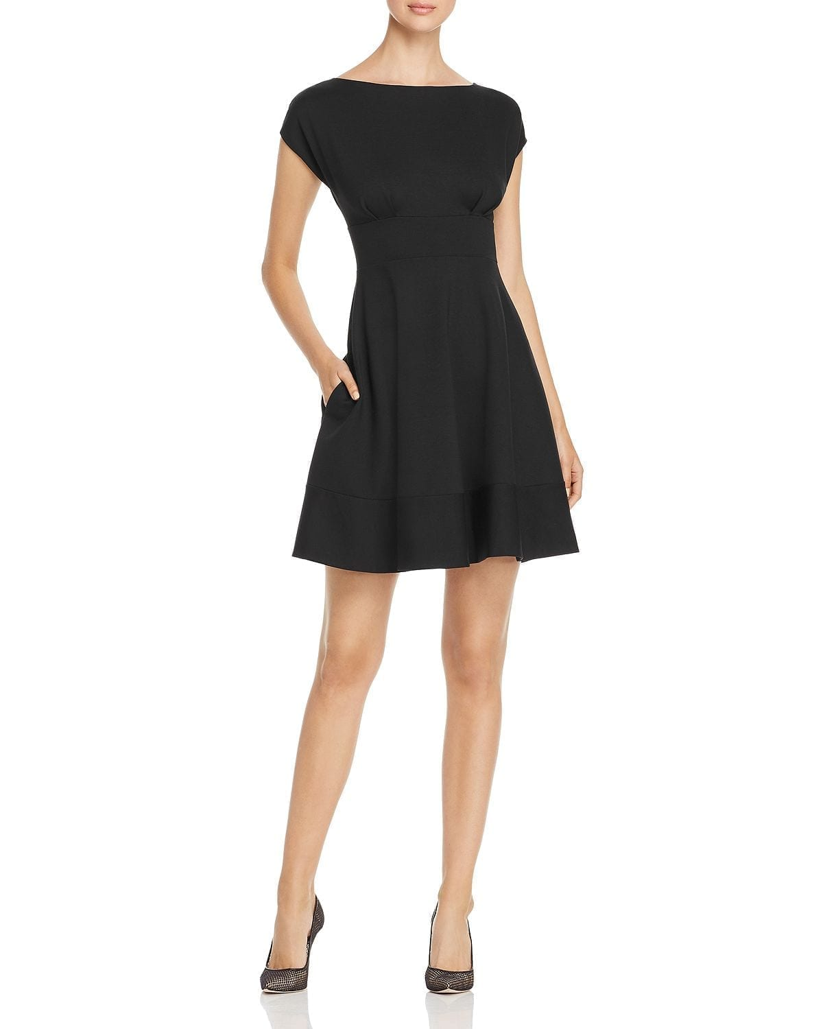 KATE SPADE NEW YORK Fiorella Ponte Cap-Sleeve Dress