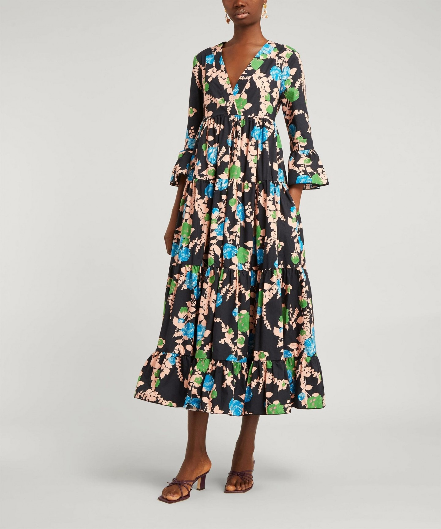 LA DOUBLEJ Jennifer Jane Cotton Midi-Dress