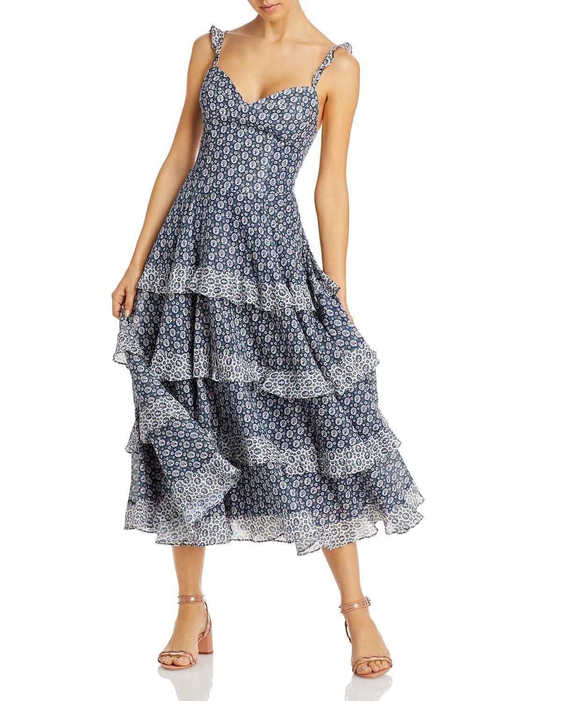 LA VIE REBECCA TAYLOR Petula Ruffled Dress