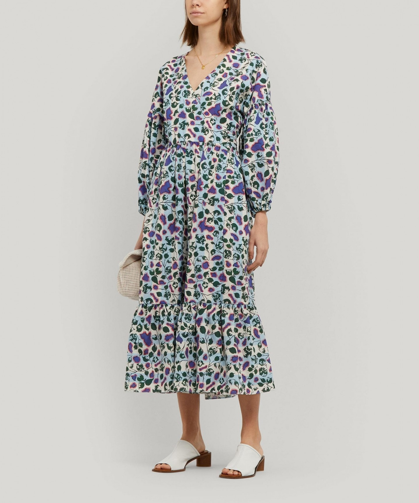 LIBERTY Dorothea Woven Jacquard Wrap Dress