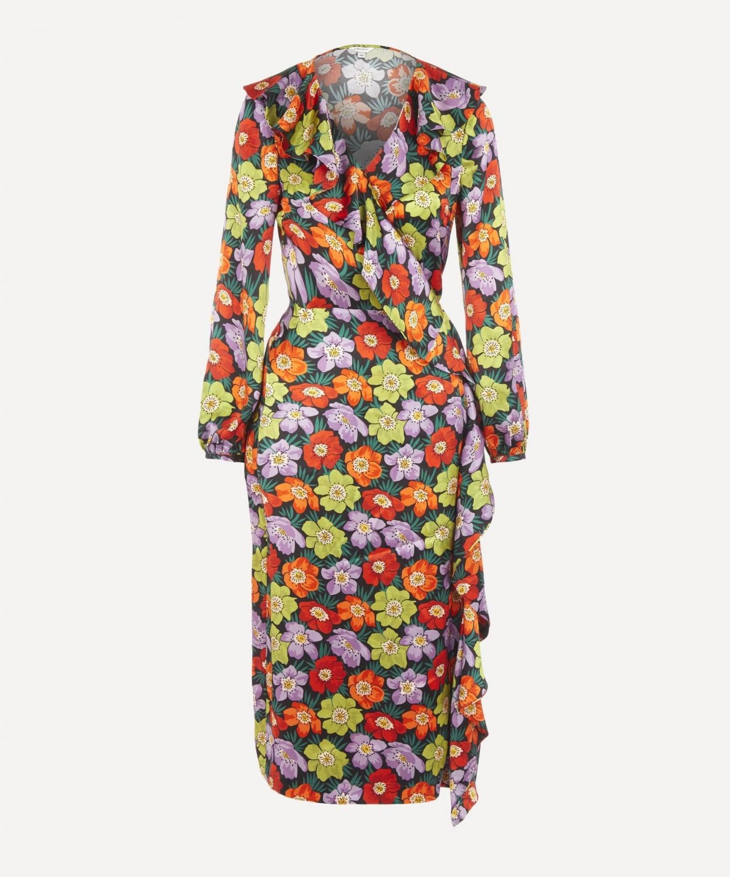 LIBERTY Rhonda Silk Wrap Dress
