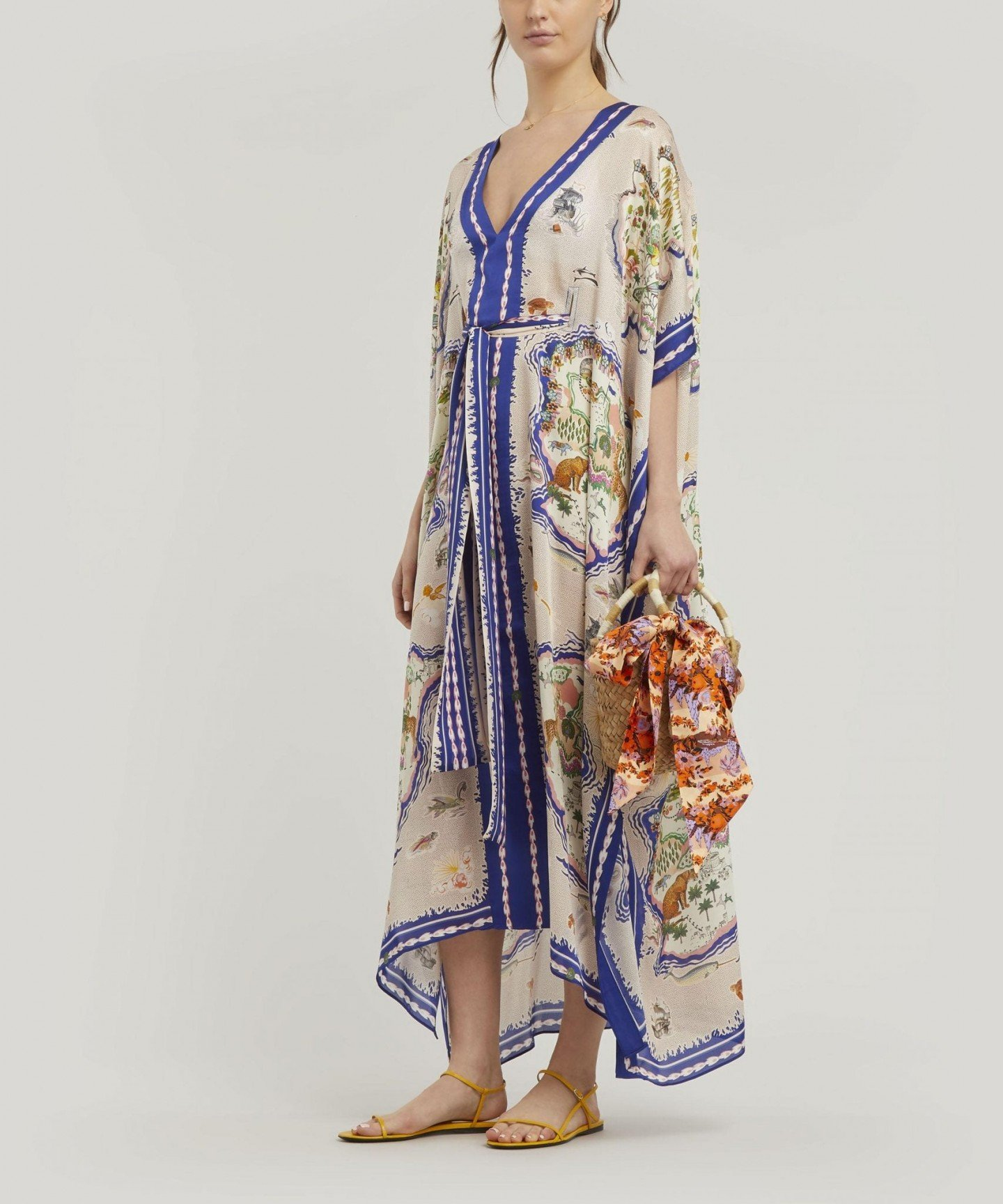 LIBERTY Sedona Long Silk Kaftan Dress