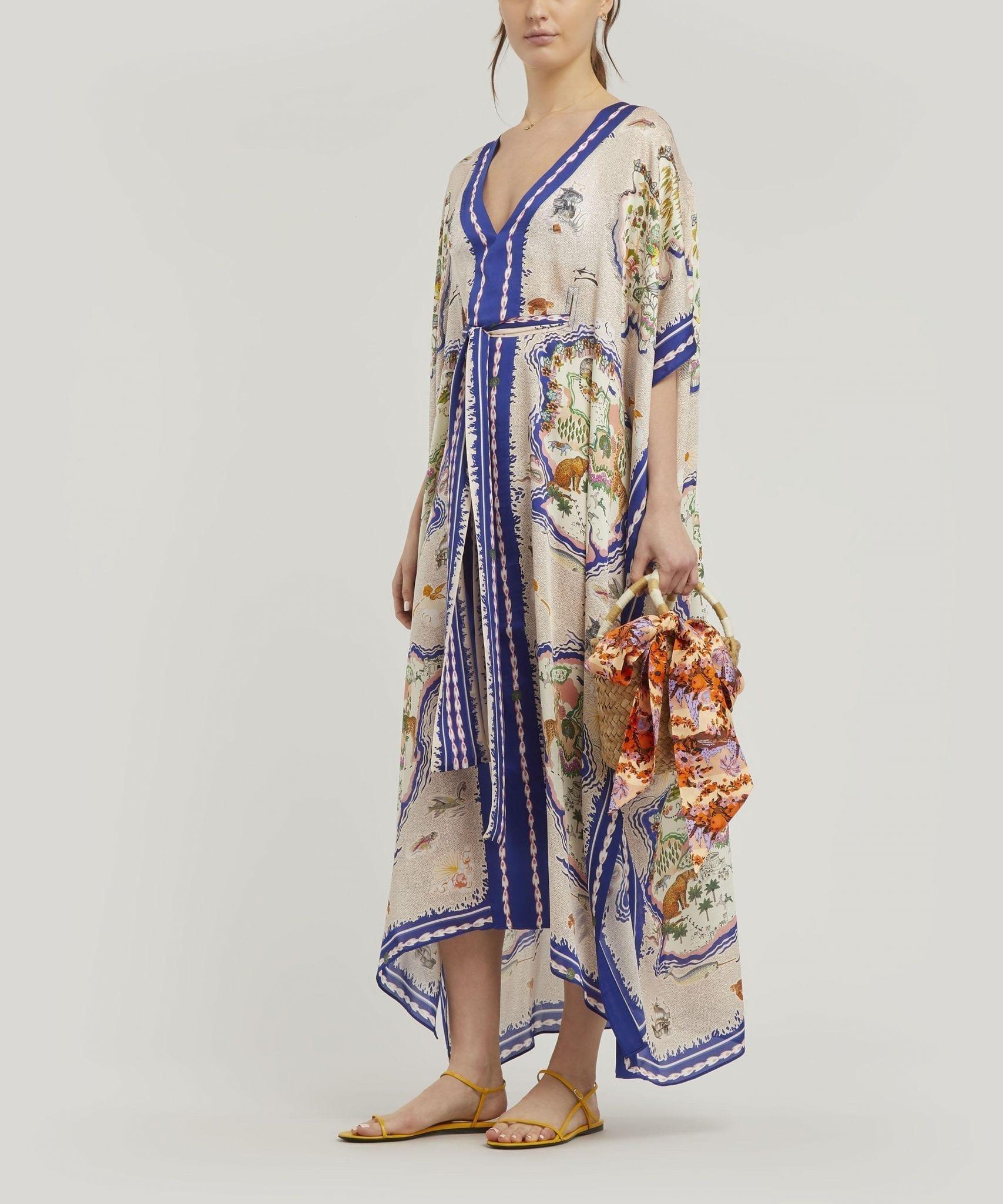 LIBERTY Sedona Long Silk Kaftan Dress