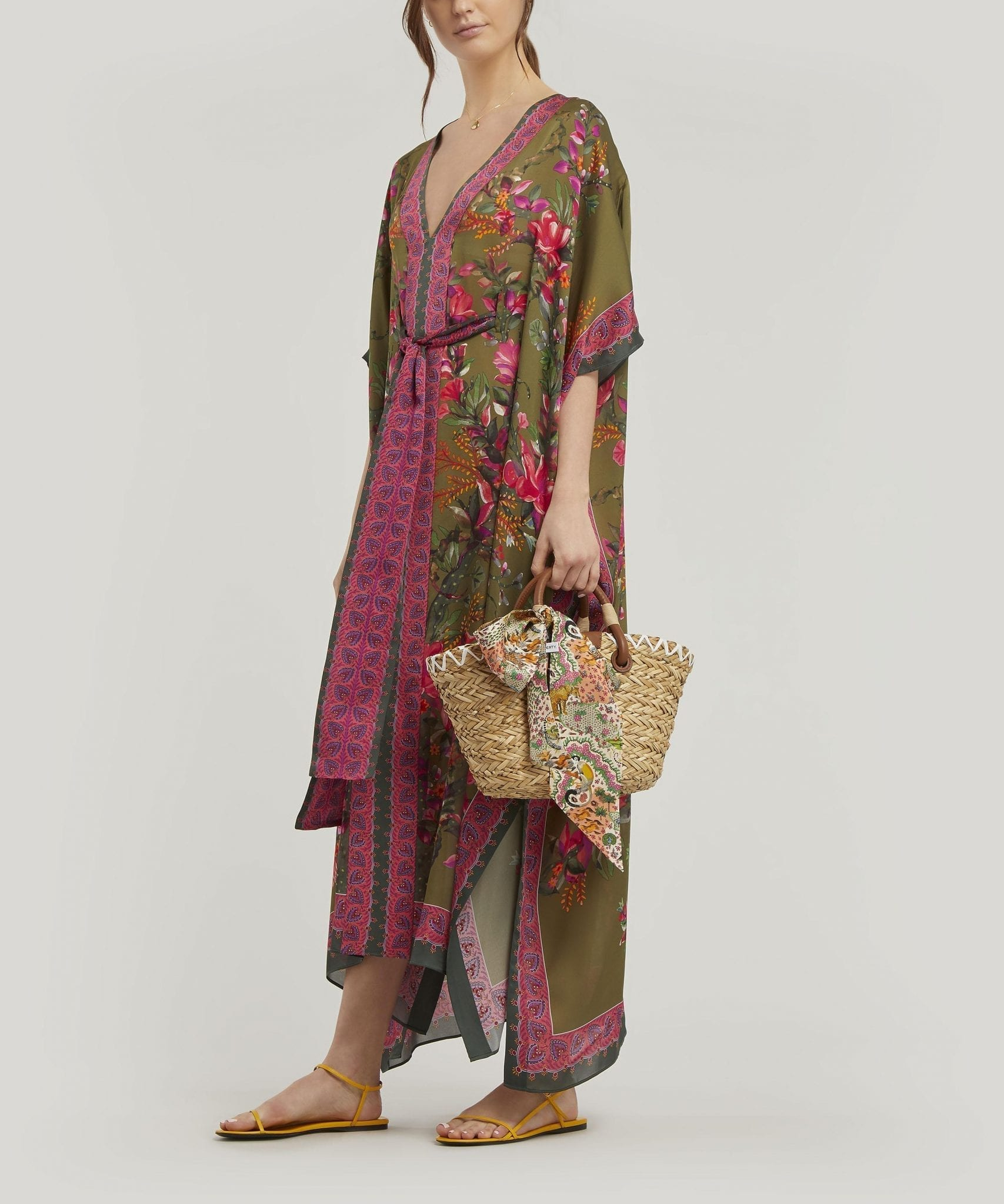 LIBERTY Sirena Long Silk Kaftan Dress
