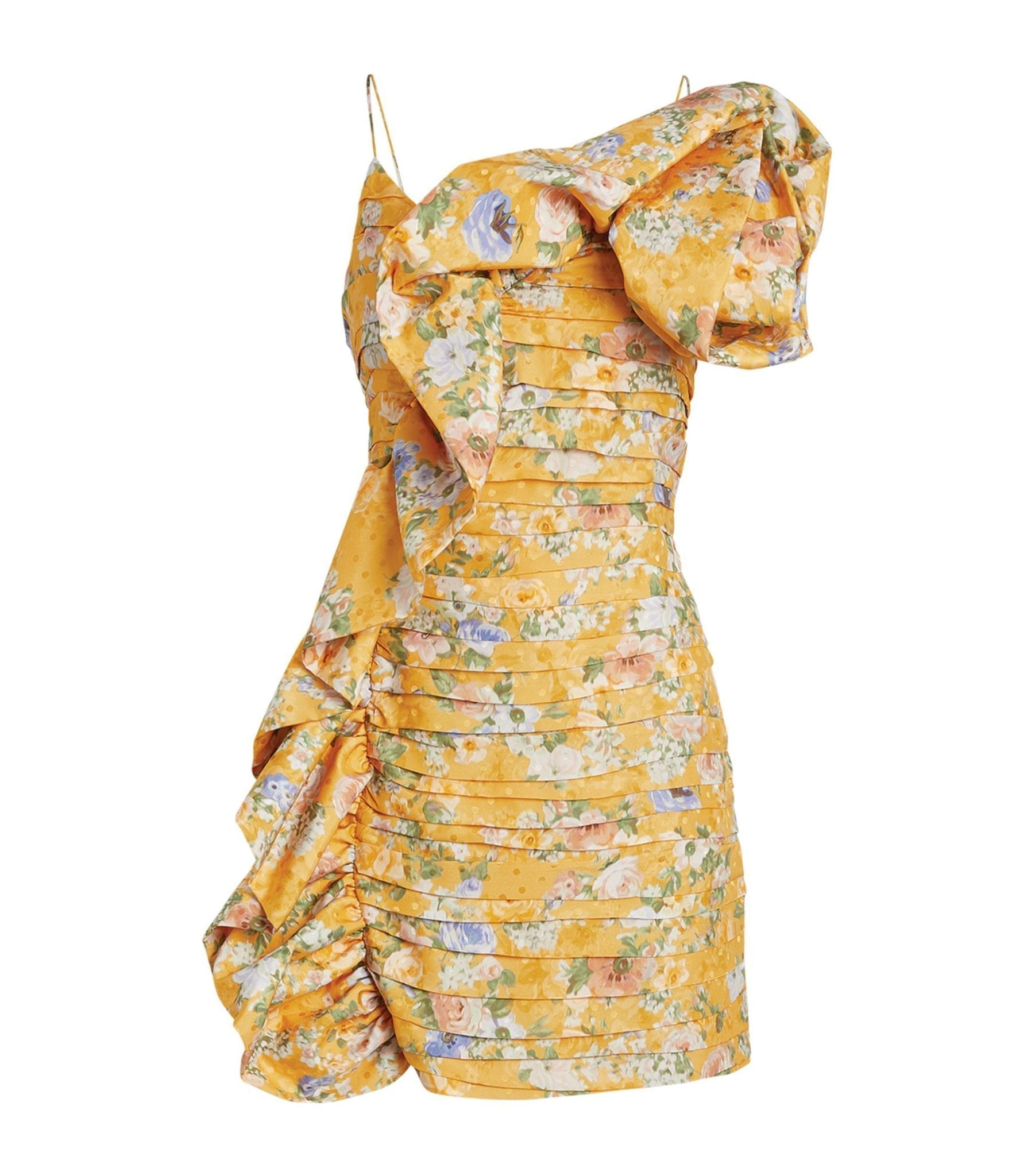 MAGDA BUTRYM Floral Ruffle-Detail Mini Dress