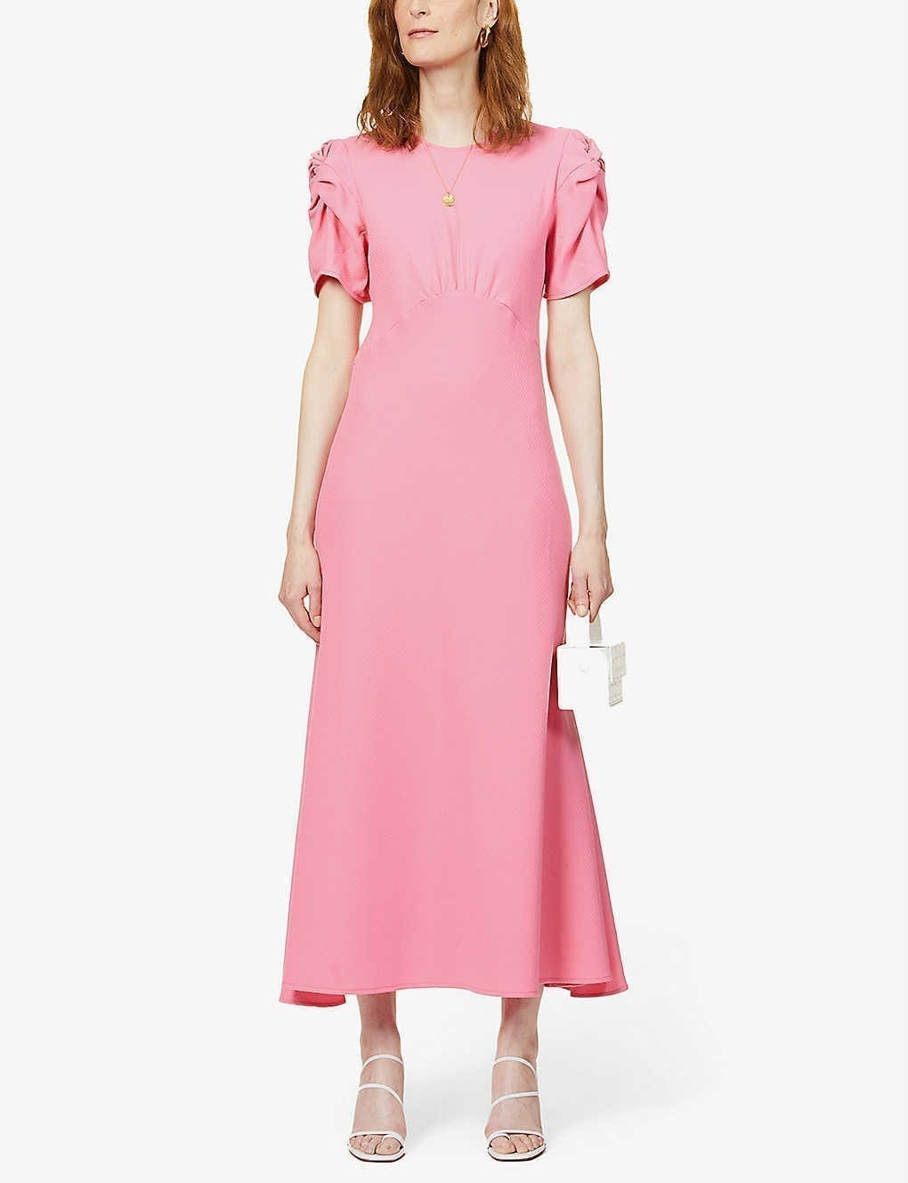 MAGGIE MARILYN It's Up To You Short-sleeved Wool Midi Dress