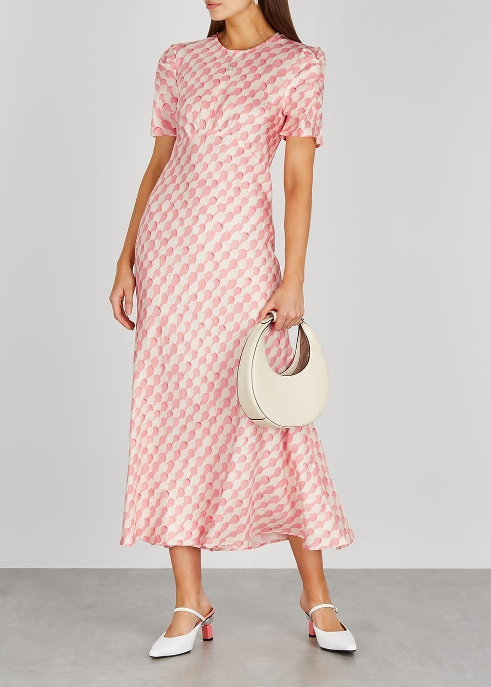 MAGGIE MARILYN It's Up To You Printed Silk Midi Dress