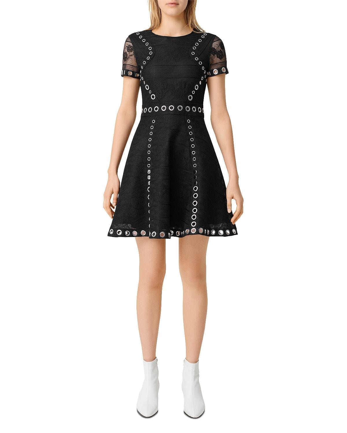 MAJE Ranch Eyelet Dress