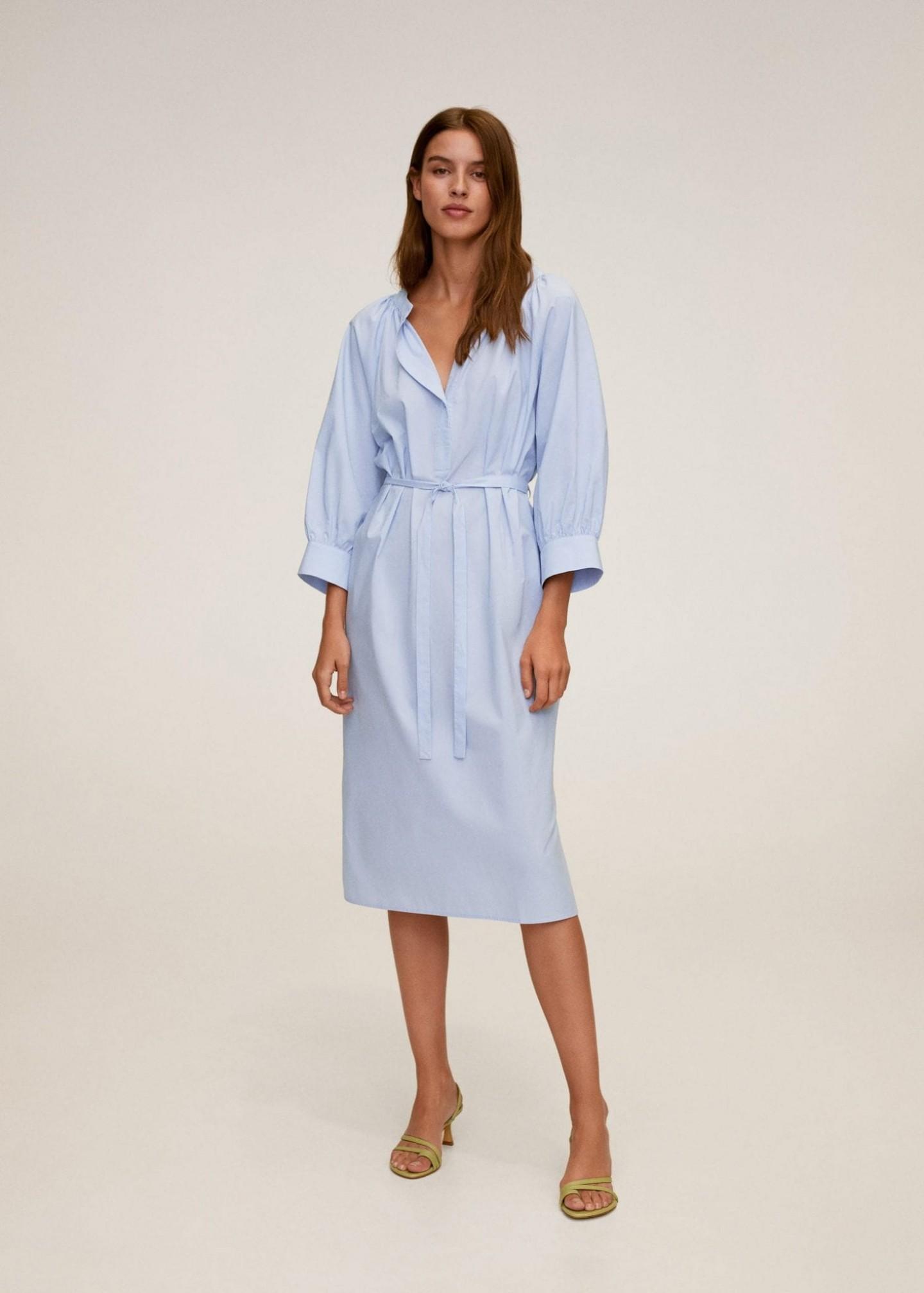 MANGO Cotton Midi Dress